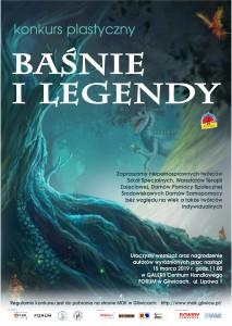 plakat z tekstem Baśnie i legendy